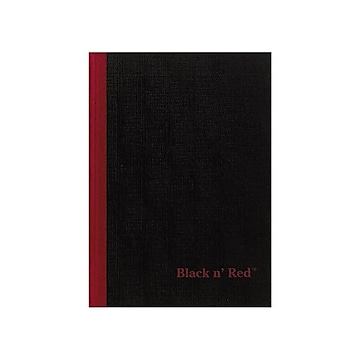 """Oxford Black n' Red Professional Notebook, 5.8"""" x 8.3"""", 96 Sheets, Black (E66857)"""