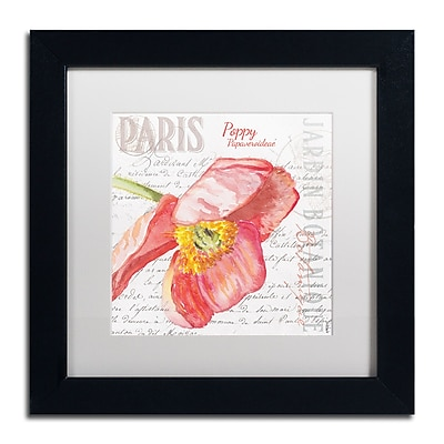 Trademark Fine Art Jennifer Redstreake 'Paris Botanique Red Poppy' 11