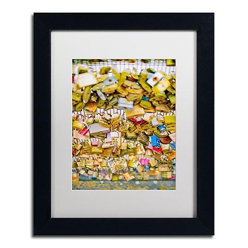 """Trademark Fine Art Ariane Moshayedi 'Paris Locks Love' 11"""" x 14"""" Matted Framed (190836272808)"""