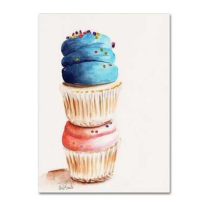 Trademark Fine Art Jennifer Redstreake 'Stacked Cupcakes No Words' 14