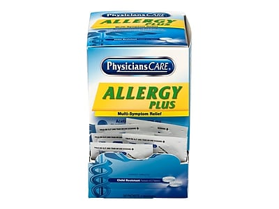 Physicians Care Allergy Plus Multi-Symptom Relief Tablets,