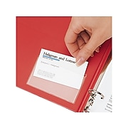 Cardinal HOLDit! Business Card Poly Binder Pockets, Clear, 10/Pack (CRD 21500CB)