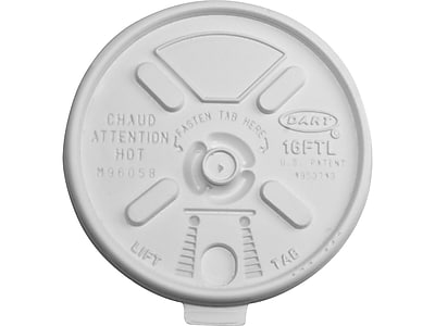 Dart Lift 'n' Lock Lids, White, 1000/Carton