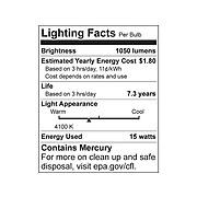 """Ledu Fixtures Fluorescent Tube Strip Light, 18"""", White (LEDL9011)"""