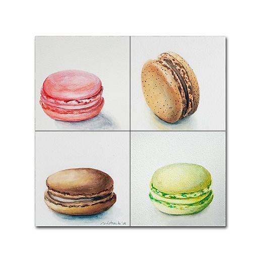 "Trademark Fine Art Jennifer Redstreake '4 Macarons' 18"" x 18"" Canvas Stretched (886511940840)"