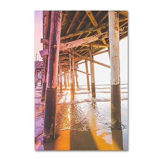 """Trademark Fine Art Ariane Moshayedi 'Newport Pier 3' 12"""" x 19"""" Canvas Stretched (190836270729)"""