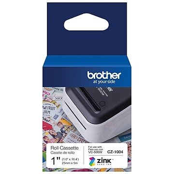 "Brother CZ CZ1004 Printer Label, 1""W, Full Color"