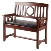 Winsome Ollie Bench with Cushion Walnut (94202)