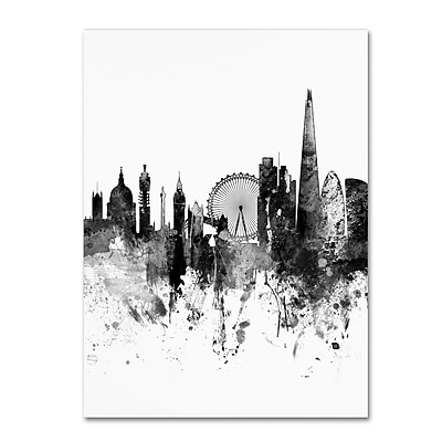 Trademark Fine Art Michael Tompsett 'London Skyline Tall B&W' 14