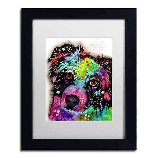 """Trademark Fine Art Dean Russo 'Aussie' 11"""" x 14"""" Matted Framed (190836165940)"""