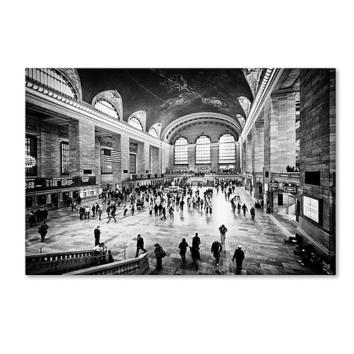 """Trademark Fine Art Philippe Hugonnard 'Grand Central Terminal NYC' 12"""" x 19"""" Canvas Stretched (190836051779)"""