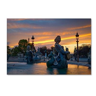 Trademark Fine Art Mathieu Rivrin 'Sunset in Place de la Concorde Paris' 12