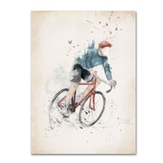"Trademark Fine Art Balazs Solti 'I Want To Ride My Bicycle' 14"" x 19"" Canvas Stretched (190836181285)"
