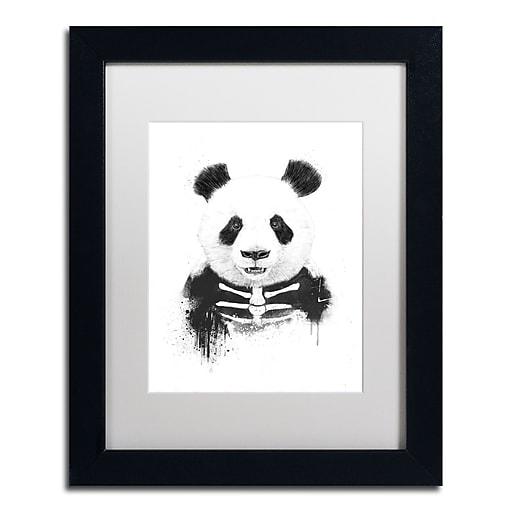 "Trademark Fine Art Balazs Solti 'Zombie Panda' 11"" x 14"" Matted Framed (190836180127)"