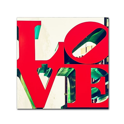 "Trademark Fine Art Philippe Hugonnard 'LOVE' 14"" x 14"" Canvas Stretched (190836053391)"