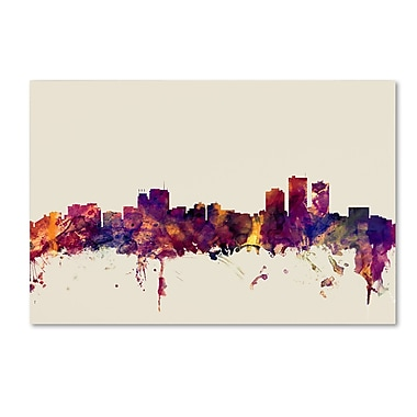 Trademark Fine Art Michael Tompsett 'Anchorage Alaska Skyline' 12