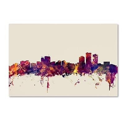 Trademark Fine Art Michael Tompsett 'Anchorage Alaska Skyline' 12