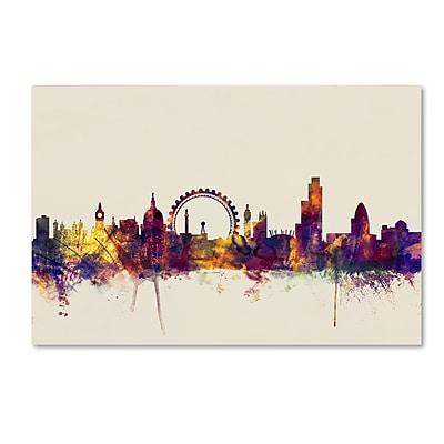 Trademark Fine Art Michael Tompsett 'London England Skyline' 12