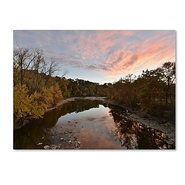 Trademark Fine Art Kurt Shaffer 'Rocky River Autumn Sunset' 14