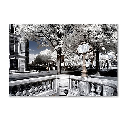 "Trademark Fine Art Philippe Hugonnard 'Another Look at Paris XII' 12"" x 19"" Canvas Stretched (190836043095)"