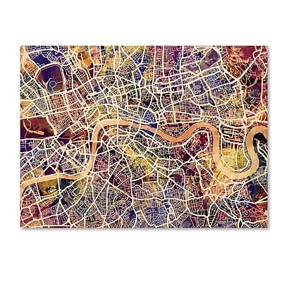 Trademark Fine Art Michael Tompsett 'London England Street Map' 14