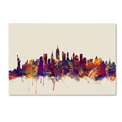 Trademark Fine Art Michael Tompsett 'New York City Skyline' 12