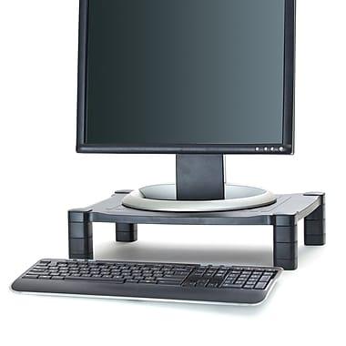 Mind Reader – Support en plastique réglable pour ordinateur portatif et moniteur Guide, noir (PLMONST-BLK)