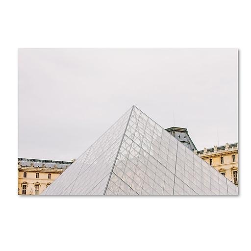 "Trademark Fine Art Ariane Moshayedi 'The Louvre' 12"" x 19"" Canvas Stretched (190836275342)"