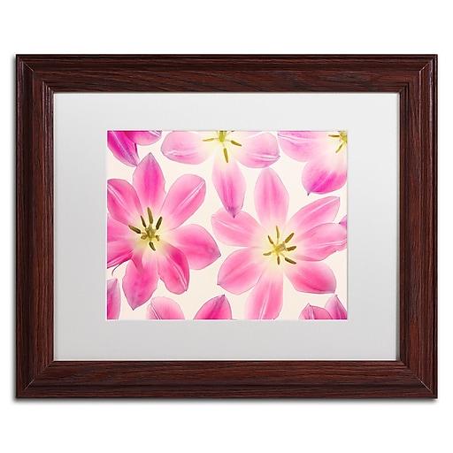 "Trademark Fine Art Cora Niele 'Cerise Pink Tulips' 11"" x 14"" Matted Framed (190836257041)"