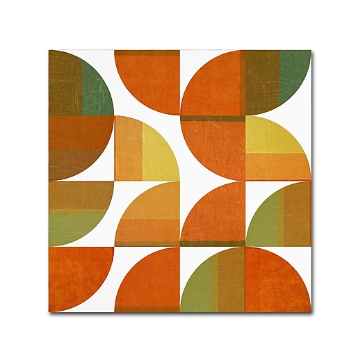 "Trademark Fine Art Michelle Calkins 'Four Suns Quartered 3.0' 18"" x 18"" Canvas Stretched (190836073276)"