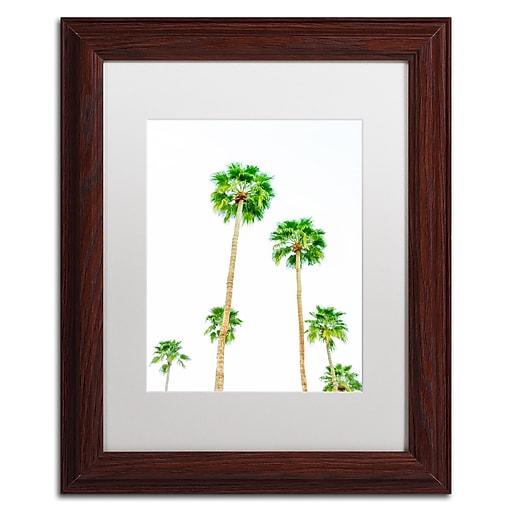 """Trademark Fine Art Ariane Moshayedi 'Palms 6' 11"""" x 14"""" Matted Framed (190836272648)"""