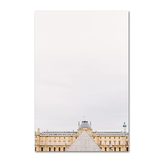"Trademark Fine Art Ariane Moshayedi 'The Louvre 2' 12"" x 19"" Canvas Stretched (190836275205)"