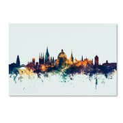 "Trademark Fine Art Michael Tompsett 'Oxford England Skyline Blue' 12"" x 19"" Canvas Stretched (190836085446)"