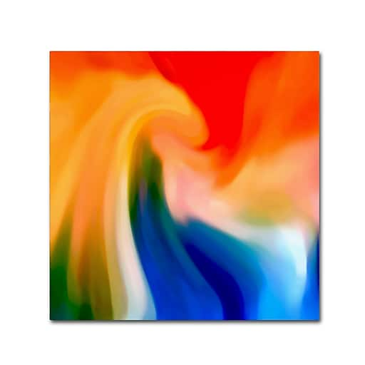 """Trademark Fine Art Amy Vangsgard 'Storm At Sea Square 1' 18"""" x 18"""" Canvas Stretched (886511938144)"""