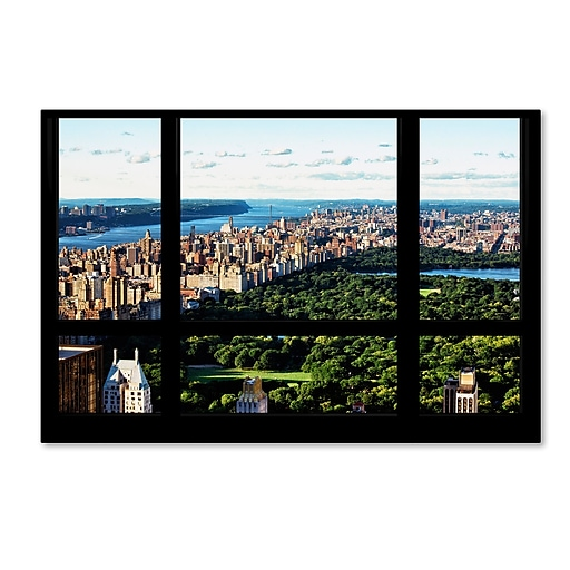 "Trademark Fine Art Philippe Hugonnard 'Central Park Window View' 12"" x 19"" Canvas Stretched (190836048892)"