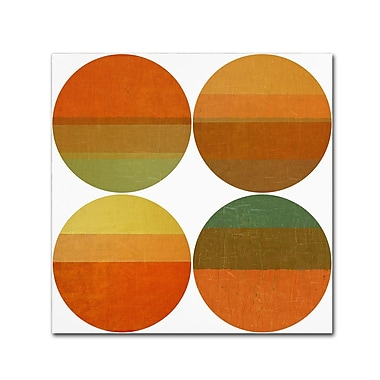 Trademark Fine Art Michelle Calkins 'Four Suns' 18