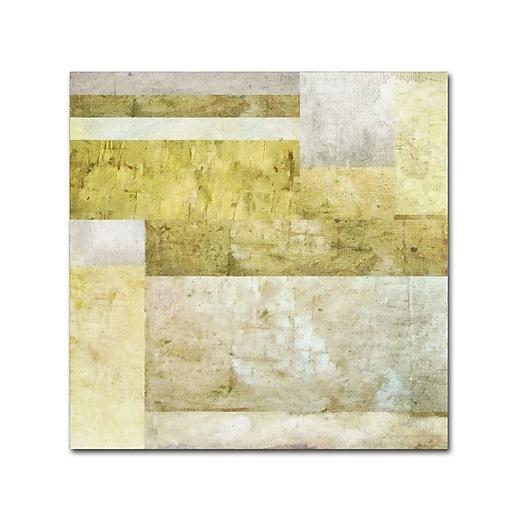 "Trademark Fine Art Michelle Calkins 'Neutral Study 2.0' 14"" x 14"" Canvas Stretched (190836074549)"