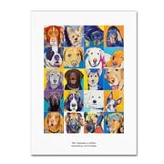 "Trademark Fine Art Pat Saunders-White 'Colorful Attitudes Poster' 14"" x 19"" Canvas Stretched (190836058112)"