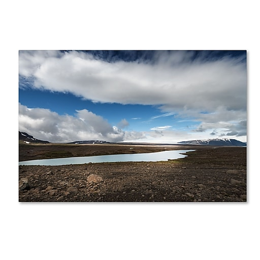 """Trademark Fine Art Philippe Sainte-Laudy 'Icelandic Silence' 12"""" x 19"""" Canvas Stretched (190836301706)"""