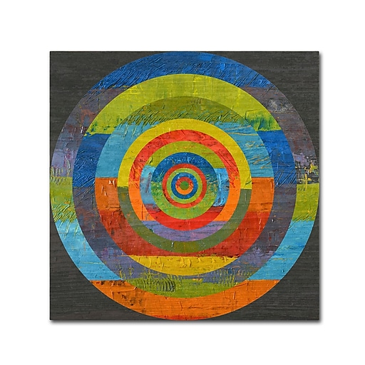 """Trademark Fine Art Michelle Calkins 'Full Circle' 18"""" x 18"""" Canvas Stretched (190836073436)"""