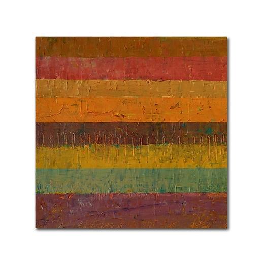"""Trademark Fine Art Michelle Calkins 'Orange Line' 18"""" x 18"""" Canvas Stretched (190836074716)"""