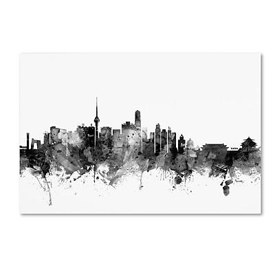 Trademark Fine Art Michael Tompsett 'Beijing China Skyline B&W' 12