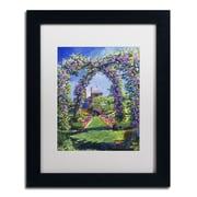 "Trademark Fine Art David Lloyd Glover 'English Rose Arbor' 11"" x 14"" Matted Framed (190836225125)"