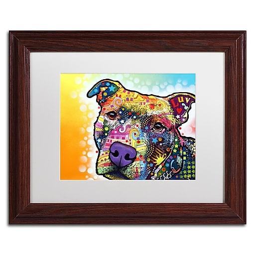 "Trademark Fine Art Dean Russo 'Contemplative Pit' 11"" x 14"" Matted Framed (190836160204)"