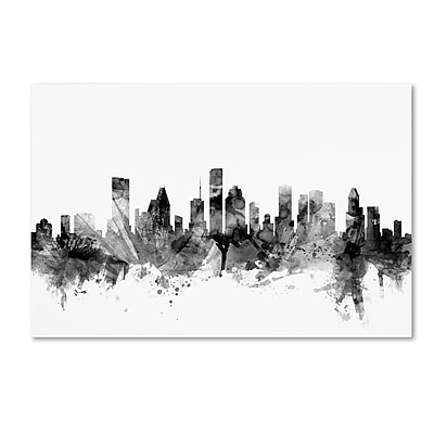 Trademark Fine Art Michael Tompsett 'Houston Texas Skyline B&W' 12