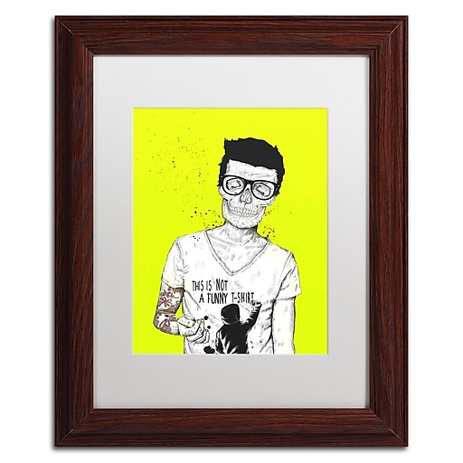 "Trademark Fine Art Balazs Solti 'Hipsters Not Dead Color' 11"" x 14"" Matted Framed (190836181216)"