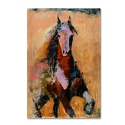 "Trademark Fine Art Joarez 'Golden Horse' 12"" x 19"" Canvas Stretched (190836234561)"