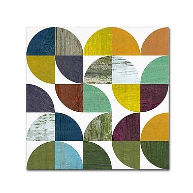 Trademark Fine Art Michelle Calkins 'Rustic Rounds 3.0' 18