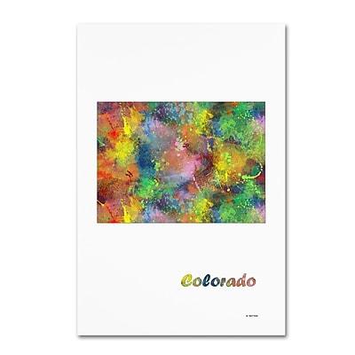Trademark Fine Art Marlene Watson 'Colorado State Map-1' 12
