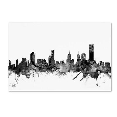 Trademark Fine Art Michael Tompsett 'Melbourne Skyline B&W' 12